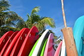 Stack of surfboards — Stock Photo