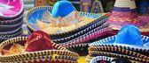 Mexican sombrero hats — Stock Photo