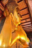 Gyllene buddha templet wat pho bangkok thailand — Stockfoto
