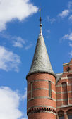 Turret on neo gothic building — Stock Photo