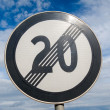 End of speed limit 20 — Stock Photo #12851249
