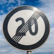 Stock Photo: End of speed limit 20