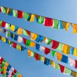 Buddhist tibetan prayer flags - Stock Photo