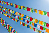Buddhist tibetan prayer flags — Stock Photo