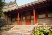Gebouw in rode slak tempel, beijing, china — Stockfoto