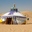 Mongolian Yurt in the Gobi Desert — Stockfoto #13214695