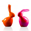 Hare and rabbit in porcelain — Stock Photo