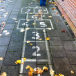 Hopscotch on the schoolyard — Stock Photo