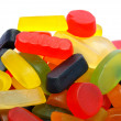 Pile of colorful wine gums — Stock Photo