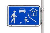 Cartello stradale di casa zona ingresso — Foto Stock