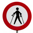 Prohibited for persons with reduced mobility — Stock Photo