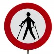 Stock Photo: Prohibited for persons with reduced mobility