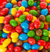 Top view of a pile of chocolate candies — Stock Photo