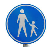 Traffic sign for pedestrian only route — Stock Photo