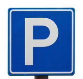 European blue parking sign — Stock Photo