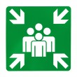 Green assembly point sign — Stock Photo #26437229
