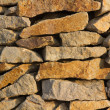 Wall made of natural stone in the evening sun — Stock fotografie