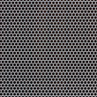 Background of gray metal with holes — Stock Photo