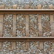 Railway track from top view — Stock Photo #36594597