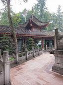 在中国佛教寺院的视角 — 图库照片