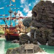 Stock Photo: Pirate island