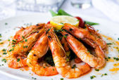 Shrimps salad — Stock Photo