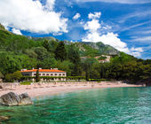 Seaside resort at Montenegro — Stock Photo