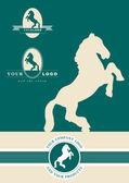 Horse emblem — Stock Vector