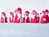 A group of santas — Stock Photo