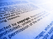 Copyright in focus — Stock Photo