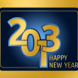 New Year 2013 Gold - Stock Photo