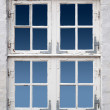Ancient white window — Stock Photo