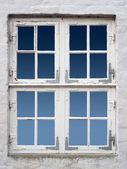 Ancient white window — Stock Photo