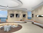 Futuristic interior — Stock Photo