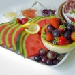 Stock Photo: Fruit and antipasti