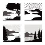 Landscape pictograms — Stock Vector #26757587