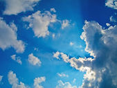 Blue cloudy sky — Stock Photo