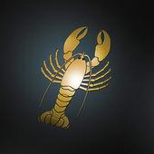 Golden lobster — Zdjęcie stockowe