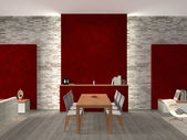 Modern dining room interior — Stock Photo