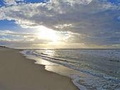 Beautiful sundown at the beach — Stock Photo