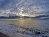 Beautiful sunset at the beach — Stock Photo