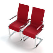 Chairs in love — Stock Photo