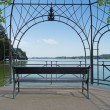 Idyllic lakeside pavilion — Stock Photo
