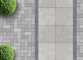 Permeable paving from above — Stock Photo