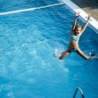 Girly pooljump — Stock Photo #12106924