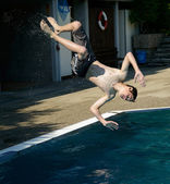Headfirst dive — Stock Photo
