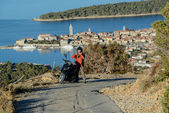 Motorcycle trip to the Adriatic — Stock Photo