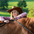 Happy cowgirl — Stock Photo