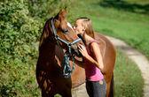 Horsekiss — Stock Photo