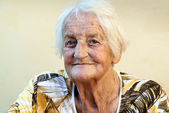 Portrait old lady — Stock Photo